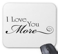 Wholesale I Pad Computer - Rectangular non-slip natural rubber mouse mat i love you more quote computer accessories office supplies mouse pad of gift