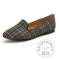 Plaid in pelle morbida Euro Style breve data Marca Chic Superstar Dress Shoes Flat Shoes Women Cotton Flannel Plain