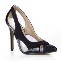 neue stil kleider bilder großhandel-Schwarze Frauen Pumpt Kleid Schuhe Real Image Damen Party Schuhe Hohe dünne Fersen Neu kommen heiße Verkaufs-Damen-Schuhe Sommer-Art-Pumpe an