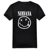 Wholesale Nirvana Clothing - Wholesale- 2016 men's round neck t-shirt clothing nirvana Kurt Cobain Short-sleeve t-shirt Hot