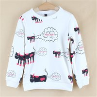 Wholesale Little Girls Spring Sweater - Wholesale- 2016 Limited Sale Children's Clothes And Accessories Hoodie Girl For One For The Little Boy Cartoon Stamp Leisure Sweater Sy126