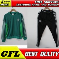 Wholesale Men S Stockings - 2017 thai quality real betis soccer training suits Uniforms football tracksuits Survetement long sleeve real betis tracksuits in stock