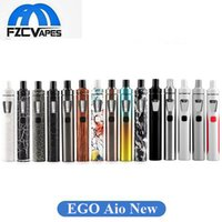 Wholesale Ego New Style Battery - Authentic Joyetech eGo AIO Kit New Colors Version 2.0ml Capacity 1500mAh Battery New Color Anti-leaking All-in-one style Devic