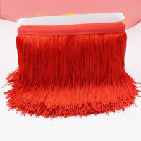 Wholesale YACKALASI Yards Latin Fringe Tassel Trimming Polyester Single Band Latin Macrame Latin Dress Trims Samba Skirt Tassel CM