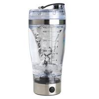 pil kahve toptan satış-Toptan-Elektrikli Otomatik Kahve Karıştırma Su Şişesi Akıllı Blender Kupası 450 ML Piller Sıcak