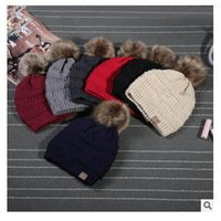 9 cores CC Chapéus Fur Poms Homens Mulheres Winter Knitted Beanie Fedora Cabo Slouchy Caps Moda Lazer Beanie Outdoor Hats