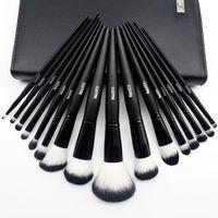 Wholesale Professional Makeup Kit 16 - Kuulee Makeup Brush Set Cosmetic Brushes Sets Foundation Blending Brush Beauty Kit Professional Studio Make up Tool 16 Piece Kit with bag