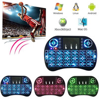 Wholesale Tv Pad Wholesaler - Wireless keyboard Rii I8 2.4GHz Backlit Air Mouse pad Multifunction Gaming Keyboard for Android TV Box PC Pad