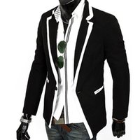 Wholesale Men Wholesale Fitted Coat - Wholesale- Hot trend menswear man fashion Korean style slim fit suit coats Men casual single button suit