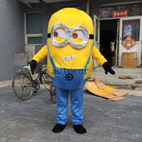 Wholesale Minions Fancy Dress Costume - Minions mascot costumes for adults christmas Halloween Outfit Fancy Dress Suit Free Shipping