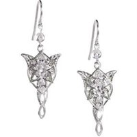 Wholesale Arwen Evenstar Silver - 12pairs lot Lord of the Rings Evenstar Arwen Earrings Platinum plate - Prop Replica