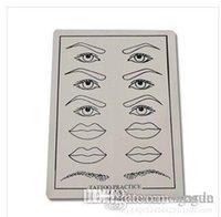 Wholesale Eyebrow Pictures - Wholesale-Eyebrow Tattoo Practice Skin Lip 10pcs  lot AAA+++ Eyebrow Lips Picture Simulation Practice Skin Beige Tattoo Skins Practice