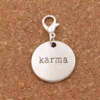 Wholesale Wholesale Karma Jewelry - Karma Lobster Claw Clasp Charm Beads 100pcs lot 33.2x19.5mm Tibetan silver Jewelry DIY C337