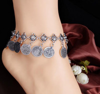 Wholesale Wholesale Ancient Coins - New Pattern Fashion Major Suit Fund Restore Ancient Ways Style Metal Coin Tassels Anklet Best Sellers Romantic Free Shipping