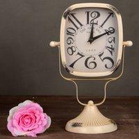 Wholesale Originality Clock - Free Shipping European Retro Desk Clock Originality Home Furnishing Ornaments Arts and Crafts Rural Countryside