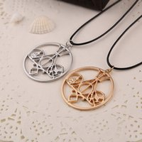 Barato Fome Colar Jogos Atacado-Atacado-Fashion Movie Necklace Mix The Mortal Instruments Hunger Games Divergent Percy Jackson Necklace para CollectionXL072