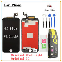 1Pcs para iPhone 6s Plus (5,5 polegadas) Display LCD Touch Screen Digitizer Montagem completa Toughened glass protective film Open Tool
