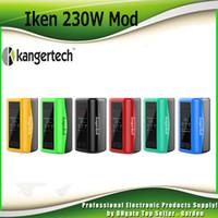 Wholesale Display E - Original Kanger Iken 230W Box Mod Battery Built 5100mAh Lipo E Cigarette Vape Mods with 1.57inch OLED Display 100% Authentic KangerTech