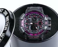 Wholesale boys wristwatch led - GA1100+G box relogio men's sports watches, LED chronograph wristwatch, military watch, digital watch, good gift for men & boy, dropship