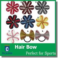 cheveux de football arcs achat en gros de-Arcs de Cheveux Softball / Baseball / Football - Commande d'Équipe - Liste de Vrac (REAL BALL) - You Choose Colors