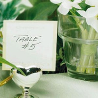 wedding party decoration metal love heart shape silver place name card photo holders love table number clipdhl free shipping
