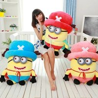 Wholesale Despicable 35cm - 161151 New arrival Cosplay Chopper Toy 3D Eyes Plush Toys Despicable Me Brinquedos Hot sales birthday gifts Free shipping