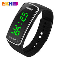 Wholesale Silicon Kids Wrist Watches - SKMEI Sports Watches Women Fashion Casual LED Digital Wristwatches Silicon Strap Complete Calendar Relogio Feminino 1119 +B