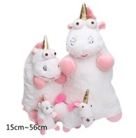 Wholesale Despicable Fluffy Unicorn Plush - 15cm 18cm 40cm 56cm Despicable Me Fluffy Unicorn Plush Pillow Toys Doll big Fluffy figure gift