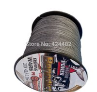 Wholesale Spectra Super Braid - cord flash New 300M 6-80LB Super Strong 4Stand Sea Braided PE Fishing Line Spectra grey(gray) cord backpack