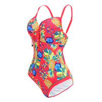sport swimsuits sale - Printing Series Plus Size Swimwear Sexy Deep V Neck Push Up Swimsuit Women One Piece Halter Sport Suit Summer Hot Sale