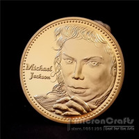Wholesale Pop People - The King of Pop Michael Jackson Music Superstar Gold Commemorative Coin Token