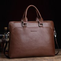 Wholesale Free Fashion Briefcase - Free Shipping! New 2017 Famous Men PU Leather Bag Business Briefcase Casual 14 Inch Laptop Bags Fashion Men's Travel Bags