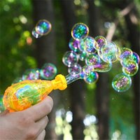 Wholesale Soap Bubble Water - 1 Pc Color Random Led Shining Bubble Gun Without Bubble Water Outdoor Toys Kids Soap Bubble Blower Child Toy Baby Toy Gift