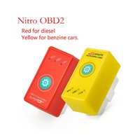 Wholesale Auto Diagnostic Scan - Auto Car Nitro OBD2 OBD II Performance Power Tuning Box Chip Plug Drive For Benzine Diesel Car Diagnostic Tool Live Data Scan RS236-RE