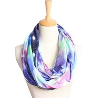 Wholesale Universe Ring - Wholesale- New Fashion 2016 Starry Night Sky Printed Universe Star Printed Women Neckerchief Ring Designer Scarf 6 Colors