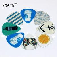 Wholesale Image Guitar - wholesale SOACH 10pcs New Blue background images Guitar Picks Thickness0.71mm