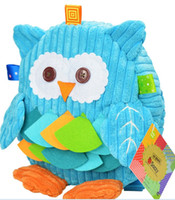 Wholesale Owl Plush Toy Baby - New cartoon backpack, cute owl, monkey plush toys, children's school bags, children's toys, baby backpack Animal pattern Satchel