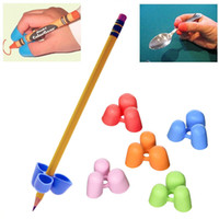 Wholesale Learning Language - 2pcs Claw Tripod Pencil Handwriting Grip For Pencils And Utensils Medium Size Pen Holder Sleeve Writing Claw Aid for Kids,Student,Children