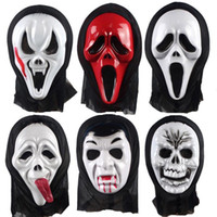 Wholesale Ghost Scream Mask - With Hood Vizard Masks Terror Scary Vampire Witch Ghost Face Scream Mask For Halloween Costume Party Suppily 1 34gn B R