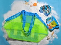 Wholesale Toys Pouch Beach Bag Box Bathing Summer Big Size Portable Carrying Toys Beach Ball Organizadores Toy Mesh Design Kid Children