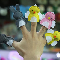Wholesale Toy Story Stick - The new puzzle felt cloth finger puppets Mini cartoon small animal doll baby story a good helper