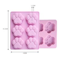 Wholesale Resin Cakes - Lowest Price Cat Paw Print Bakeware Silicone Mould Chocolate Cookie Candy Soap Resin Wax Mold Cake Decorating Tools