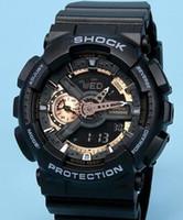 Wholesale Men S Watches G Shock - Popular Mens Summer G Sports GA110 Watches LED Waterproof Climbing Digital S Shock Men 100 Watch All Pointer Work Original Box #5898