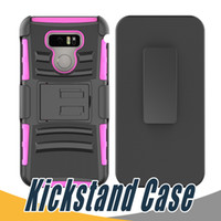 Wholesale Optimus G Cover - Armor Case Hard Back Cover with Kickstand Shockproof Slip Holder PC+TPU 3 in 1 For LG G3Mini Tribute LS660 G Vista D631 Optimus Zone 2 K5 Q6