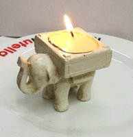 Wholesale Candle Married - Wedding Decoration Creative arts and crafts elephant candle Taiwan celebration Candle Holder To get married gift 100pcs wholesale