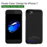 Wholesale Iphone Portable Battery Case - Mobile Cell Phone Power 3000 mah Extender Backup Battery Portable Power Bank Charger Case For Iphone 6 6s 7 With Magnetic Car Phone Holder