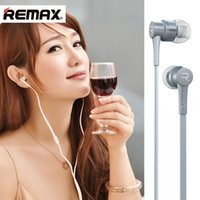 Haute qualité Remax RM-535 En métal avec écouteurs Écouteurs Enroulement de bruit HiFi Bass Wired Control Music Avec microphone Casque d'ordinateur pour iPhone Samsun