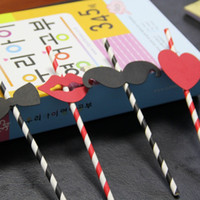 Wholesale Strip Party Straws - Wholesale-drinking paper straws creative strip option for Birthday Wedding Party Decoration gift craft DIY favor Wh