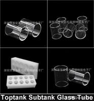 Wholesale Kanger Mini Pyrex - Replacement Toptank Subtank Mini nano TFV8 baby TFV12 Pyrex Glass Tube for Smok Kanger Topbox subox Mini c Nano Atomizer Subvod Mega TC Kit