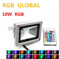 Wholesale High Power Led Floodlight Rgb - outdoor RGB LED Flood Light Real high power 10W 20W 30W 50W 100W Floodlight Bulb Waterproof IP66 Lamp With Remote Control Holiday Lights